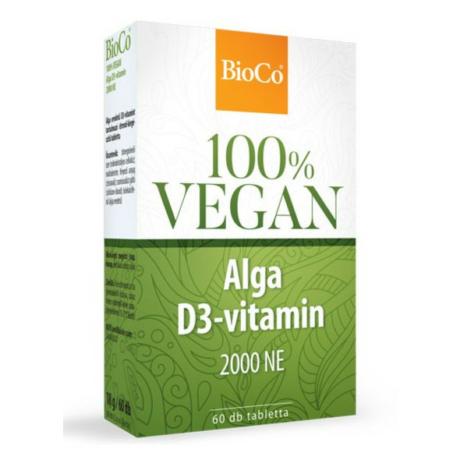 BioCo 100% VEGAN ALGA D3-VITAMIN 60 DB