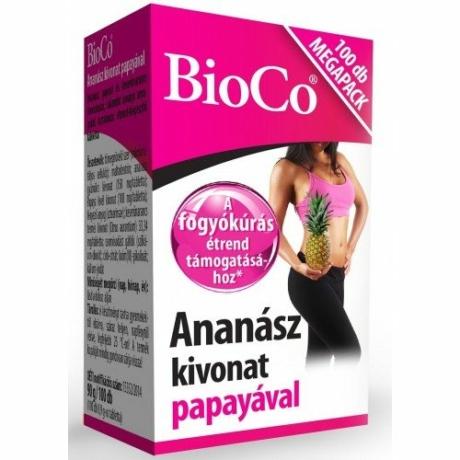 BioCo ANANÁSZ KIVONAT PAPAYÁVAL 100 DB