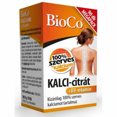 BioCo KALCI-CITRÁT+D3 VITAMIN 90 DB