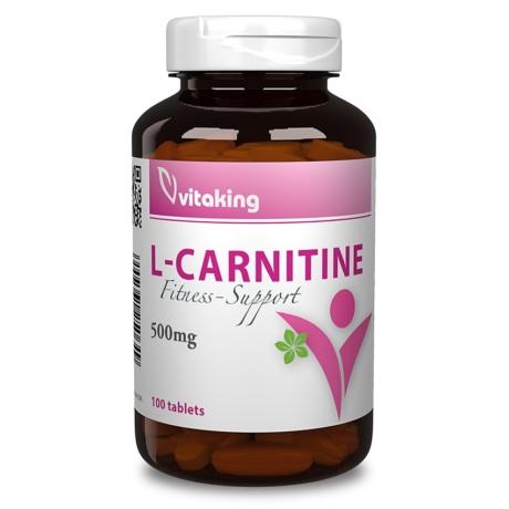 VITAKING L-CARNITINE FITNESS SUPPORT 500 MG 100 DB