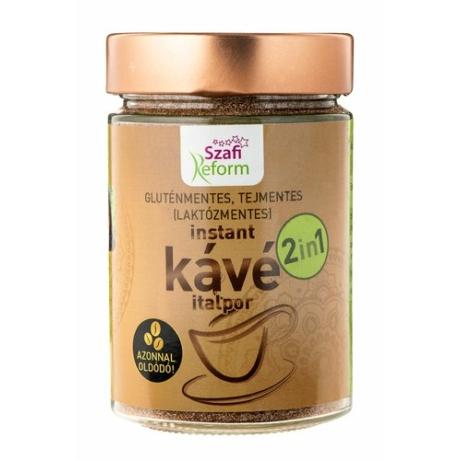 Szafi Reform (gluténmentes, tejmentes, laktózmentes, paleo, vegán) 2in1 kávé italpor 200g