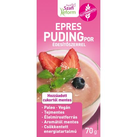Szafi Reform Epres pudingpor édesítőszerrel (gluténmentes, paleo, vegán)