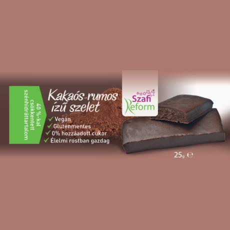 Szafi Reform kakaós-rumos szelet 25 g