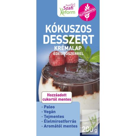 Szafi Reform Kókuszos desszert krémalap édesítőszerrel (bounty ízű, paleo, vegán, gluténmentes, tejmentes)