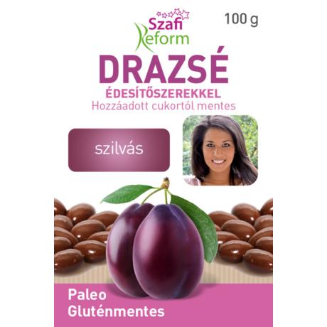 Szafi Reform Szilvás drazsé kakaós bevonattal, édesítőszerekkel (gluténmentes, vegán, paleo) 100g